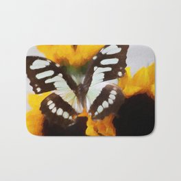 Summer Butterfly Bath Mat