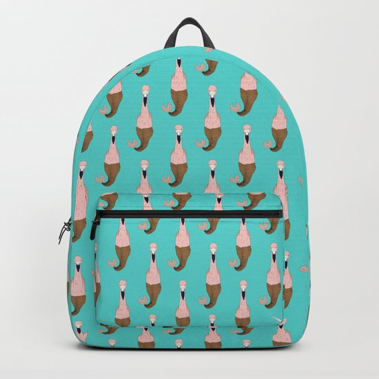 Mer Pink Flamingo Backpack