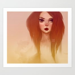 Red Ombré Art Print