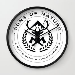 Sons Of Nature Logo Wall Clock