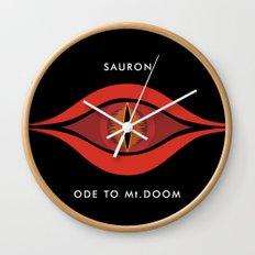 Ode To Mt. Doom Wall Clock