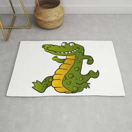 Cartoon crocodile Rug