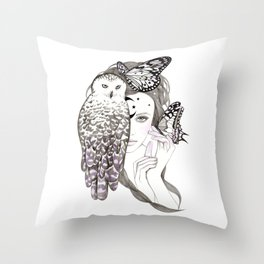 NightOwl Throw Pillow