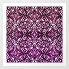 Memories of Woven Grass, Plum Art Print