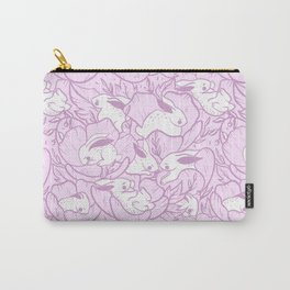 Where the bunnies sleep - orchid Carry-All Pouch
