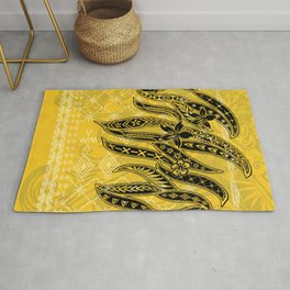 Golden Samoan Malu Design Rug