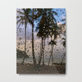 Rainy Vacation Metal Print