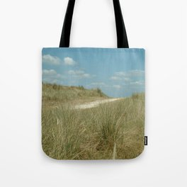 This way to the beach Tote Bag