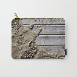 Sand and wood Carry-All Pouch