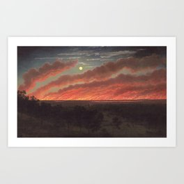 Wild fire between Mount Elephant and Timboon by Eugene von Guerard Art Print
