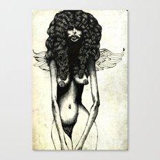 Angel Sketch #1 (nude) Canvas Print