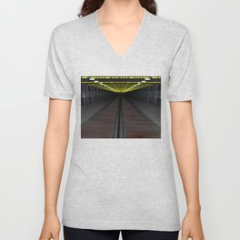 Old Space Ship Unisex V-Neck
