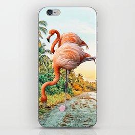 Flamingo Vacay #photography #surrealism iPhone Skin