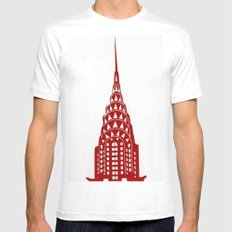 Chrysler Building Mens Fitted Tee White MEDIUM