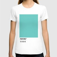 pantone T-shirts featuring Pantone Turquoise by Mariana Nabas
