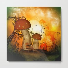 The fairy house in the night Metal Print