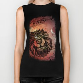 Leo-Ambitious, strong, warm hearted Biker Tank