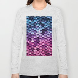 Mermaid Tail Pink Purple Blue Long Sleeve T-shirt
