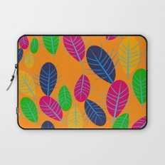 Fall Leaves Pop Pattern Design Laptop Sleeve