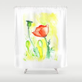 Papaver III Shower Curtain