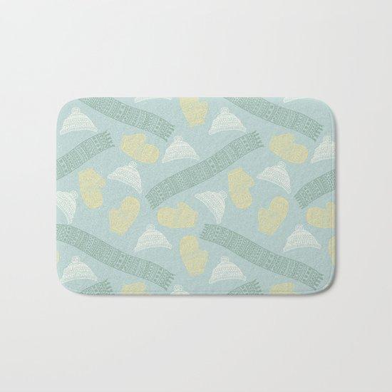 Merry Christmas- Winter fun pattern Bath Mat