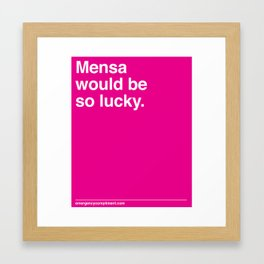 Mensa Framed Art Print