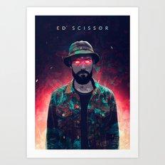 Ed Scissortongue / Dark contrast Art Print