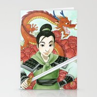 mulan Stationery Cards featuring Mulan by Aimee Steinberger