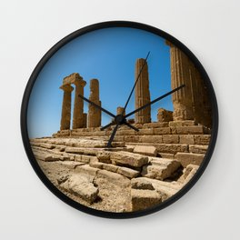 landscape ruined temple Wall Clock