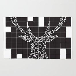 Black & White Deer Rug