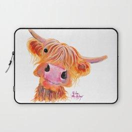 Highland Cow Print, Animal Print ' NESSIE ' by Shirley MacArthur Laptop Sleeve