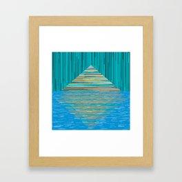 Mountain Lake Abstract Framed Art Print