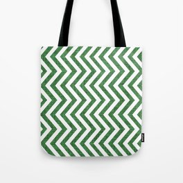 Canadian Wildlife Chevron Emerald Tote Bag