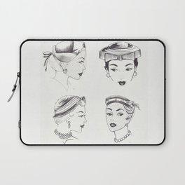 Four Ladies Four Vintage Hats Laptop Sleeve