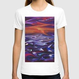Stormy Sunset Sea T-shirt