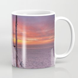 I - Seaside jetty at sunrise on Texel island, The Netherlands Coffee Mug
