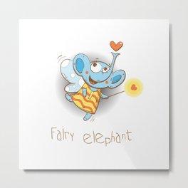 Fairy elephant. Metal Print