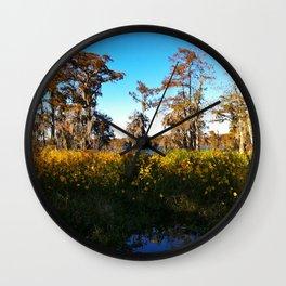 Swamp Flowers - Lake Martin LA Wall Clock