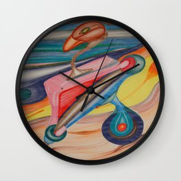 Prosthetic Bird Wall Clock