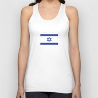 israel Tank Tops featuring israel country flag david star by tony tudor