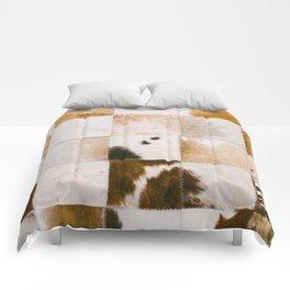 Brown Cowhide Comforters