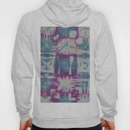 Tile Tie Dye Blue Green Purple Hoody