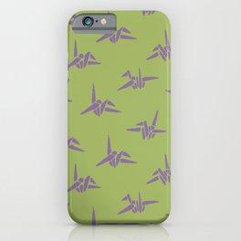 Orizuru Japanese Cranes Block Print iPhone Case