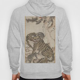 Tiger Family, Korean Art, 1800s Hoody