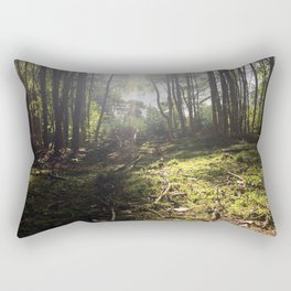 Mossy Floor. Rushmere Country Park, Bedfordshire. UK Rectangular Pillow