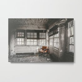 Abandoned School Lounge Metal Print