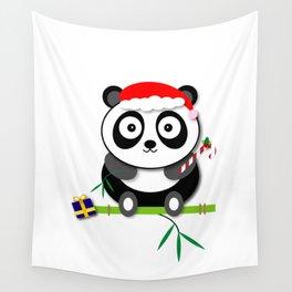 Holiday Panda Wall Tapestry