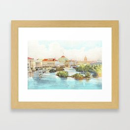 Incredible View of Lagoon in Chicago World's Fair 1893 Framed Art Print