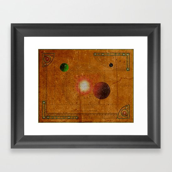Space Map…and then you turn left 031 Framed Art Print