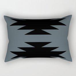 Geometric Southwestern Minimalism - Blue Rectangular Pillow